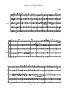 12 Menuets pour le Clavecin ou Pianoforte, Hob.IX/8: Minuet, for wind ensemble by Joseph Haydn