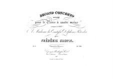 Partitura completa: versão para piano de quatro mãos by Frédéric Chopin
