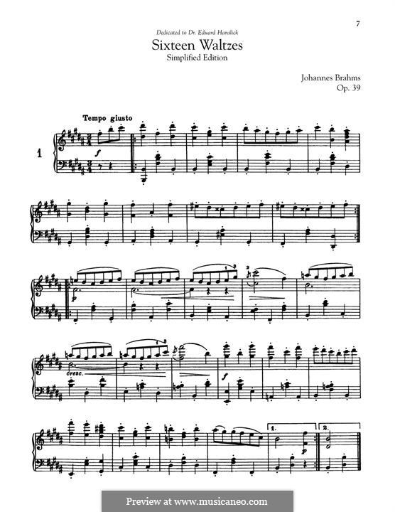 Complete set: Simplified edition by Johannes Brahms