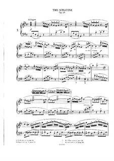 Three Sonatinas, Op.38: Sonatina No.1 by Muzio Clementi