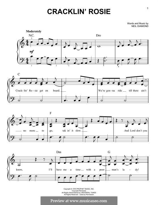 Cracklin' Rosie: Para Piano by Neil Diamond