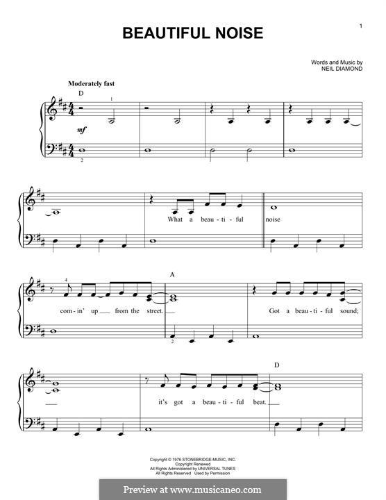 Beautiful Noise: Para Piano by Neil Diamond