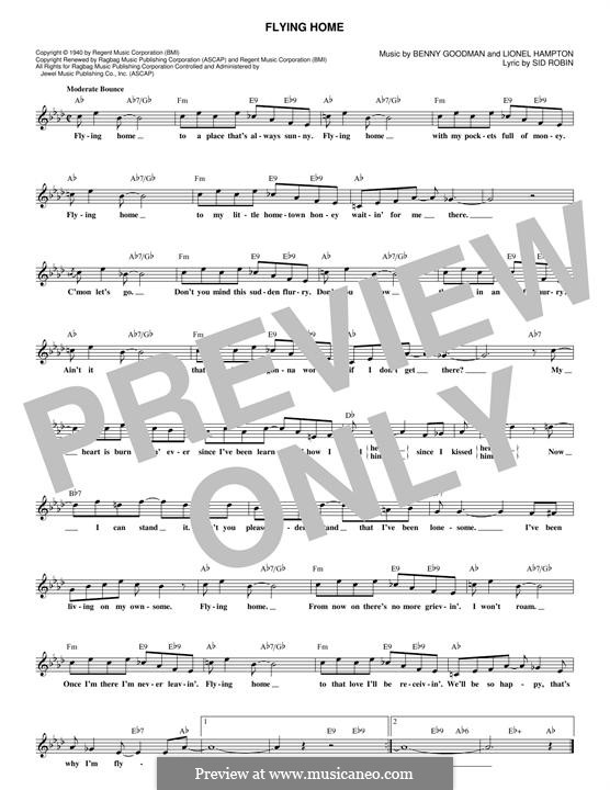 Flying Home: melodia by Benny Goodman, Lionel Hampton