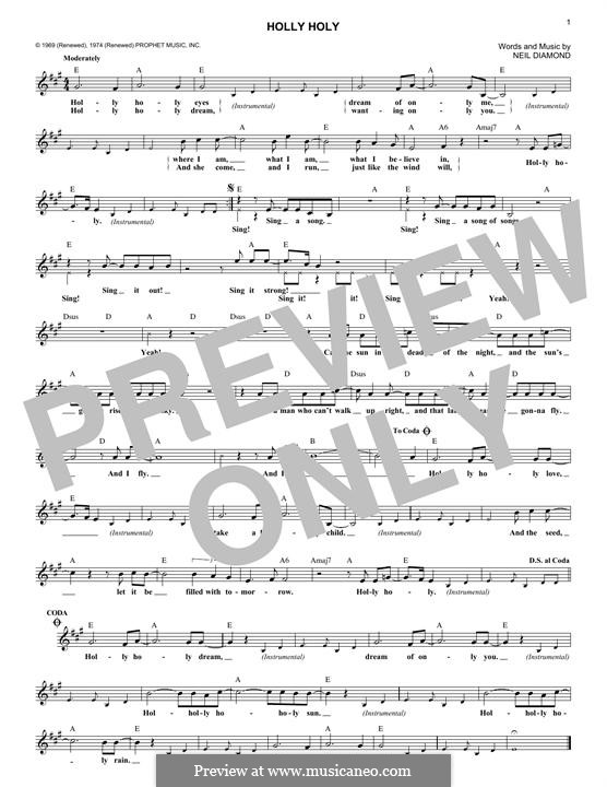 Holly Holy: melodia by Neil Diamond