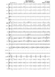 Glory: para orquestra russa folk by Mikhail Glinka