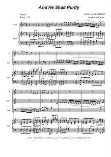 And He Shall Purify: Para quarteto de sopro by Georg Friedrich Händel