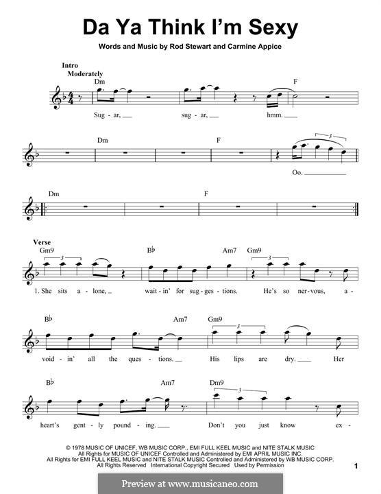 Da Ya Think I'm Sexy: melodia by Carmine Appice