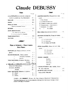 Prélude à l'après-midi d'un faune (Prelude to the Afternoon of a Faun), L.86: para piano de quadro mãos by Claude Debussy