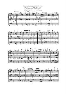Te Deum, H.146: No.1 Prelude, for Organ by Marc-Antoine Charpentier