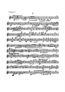 Concerto for Cello and Orchestra in B Minor, B.191 Op.104: Clarinet I, II part by Antonín Dvořák