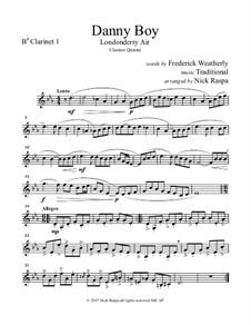 Ensemble version: For clarinet choir – B Flat clarinet 1 part by folklore