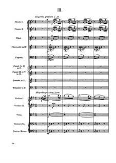 Movement III: partitura completa by Antonín Dvořák