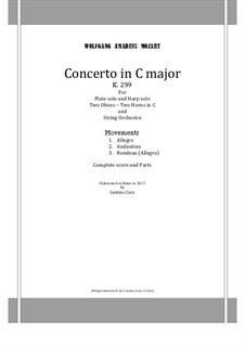 Concerto for Flute, Harp and Orchestra in C Major, K.299: Score and parts by Wolfgang Amadeus Mozart