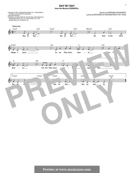 Day By Day: melodia by Stephen Schwartz