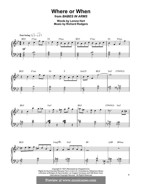 Where or When: Para Piano by Richard Rodgers