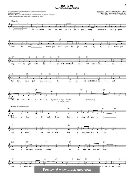 Do-Re-Mi (from The Sound of Music): melodia by Richard Rodgers