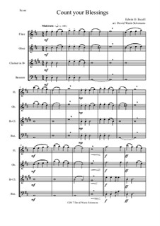 7 Songs of Glory for wind quartet: Count your blessings by Robert Lowry, William Howard Doane, Charles Wesley, Jr., William Batchelder Bradbury, Charles Hutchinson Gabriel, Edwin Othello Excell, D. B. Towner