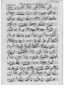 Sonata for Flute in A Minor, H 562 Wq 132: For a single performer by Carl Philipp Emanuel Bach