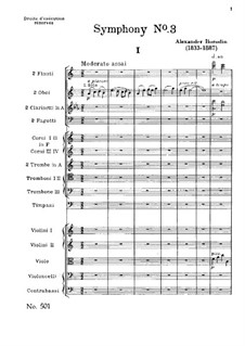 Symphony No.3 in A Minor (Unfinished): movimento I by Alexander Borodin