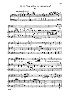 Samson, HWV 57: How willing my paternal love. Aria for bass by Georg Friedrich Händel