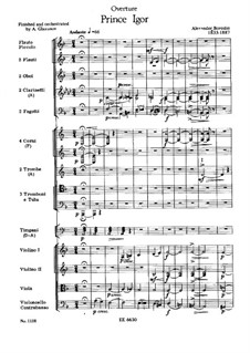 Complete Opera: abertura by Alexander Borodin