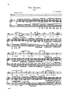 Brockes Passion, HWV 48: My father, look upon my anguish. Aria for bass by Georg Friedrich Händel