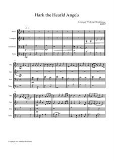 Hark! The Herald Angels Sing: Para quarteto de sopro by Felix Mendelssohn-Bartholdy