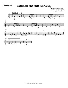 Angels We Have Heard Can Swing: For clarinet quartet – bass clarinet part by folklore
