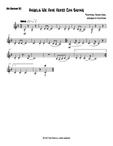 Angels We Have Heard Can Swing: For clarinet quartet – B flat clarinet 3 part by folklore