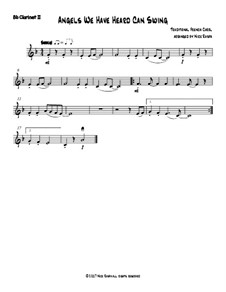 Angels We Have Heard Can Swing: For clarinet quartet – Bb clarinet 2 part by folklore