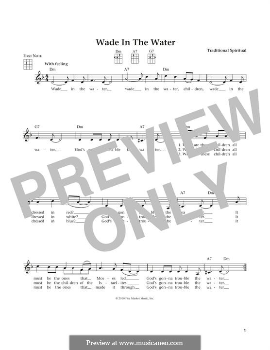 Wade in the Water: para ukulele by folklore
