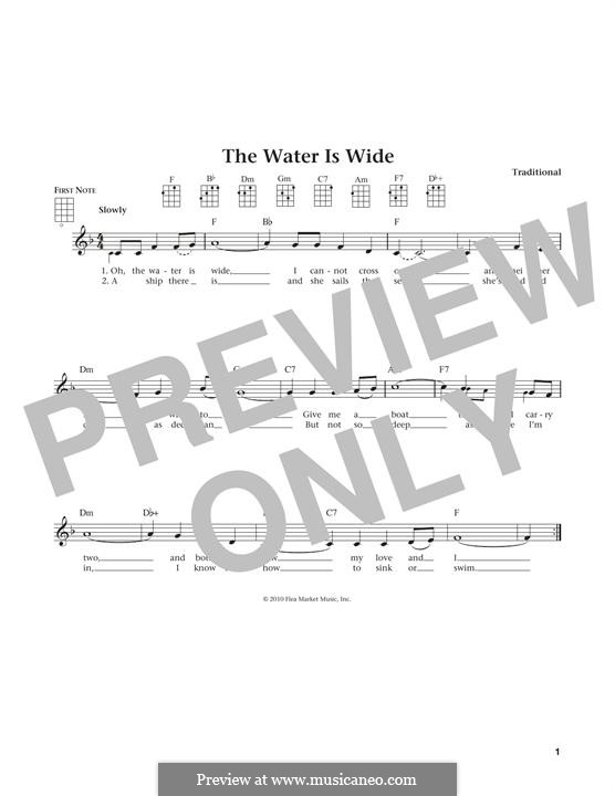 The Water is Wide: para ukulele by folklore