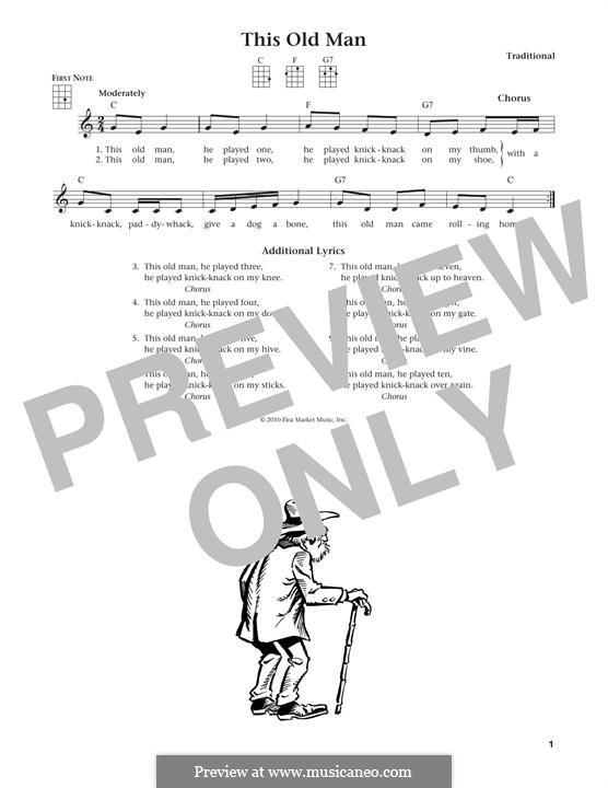 This Old Man: para ukulele by folklore