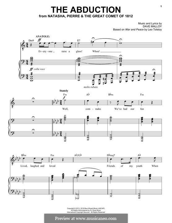 The Abduction (Josh Groban): Para vocais e piano by David Malloy