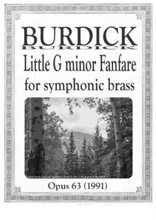 Little G minor Fanfare for Symphonic brass choir, Op.63: Little G minor Fanfare for Symphonic brass choir by Richard Burdick