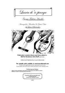 Lascia Ch'io Pianga: For guitar and mandolin by Georg Friedrich Händel