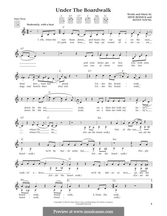 Under the Boardwalk (The Drifters): para ukulele by Art Resnick, Kenny Young