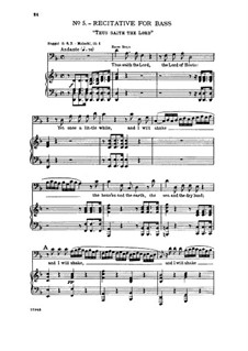No.6 But Who May Abide the Day: Para vocais e piano by Georg Friedrich Händel