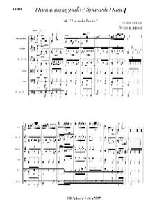 Danse espagnole: partitura by Manuel de Falla