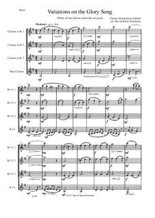 Variations on the Glory Song: para quarteto de clarinete by Charles Hutchinson Gabriel