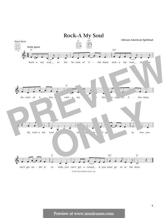 Rock-A-My-Soul: para ukulele by folklore