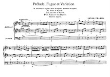 Six Pieces for Grand Organ: Prelude in B Minor, Op.18 by César Franck