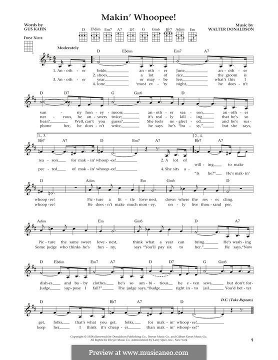 Makin' Whoopee!: para ukulele by Walter Donaldson