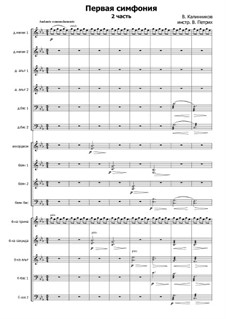 Symphony No.1 in G Minor: Movement II, for russian folk orchestra by Vasily Kalinnikov