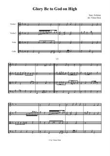 Glory Be to God on High: para quartetos de cordas by folklore