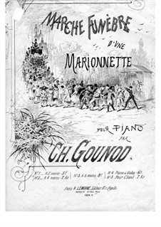 Funeral March of Marionette: Para Piano by Charles Gounod