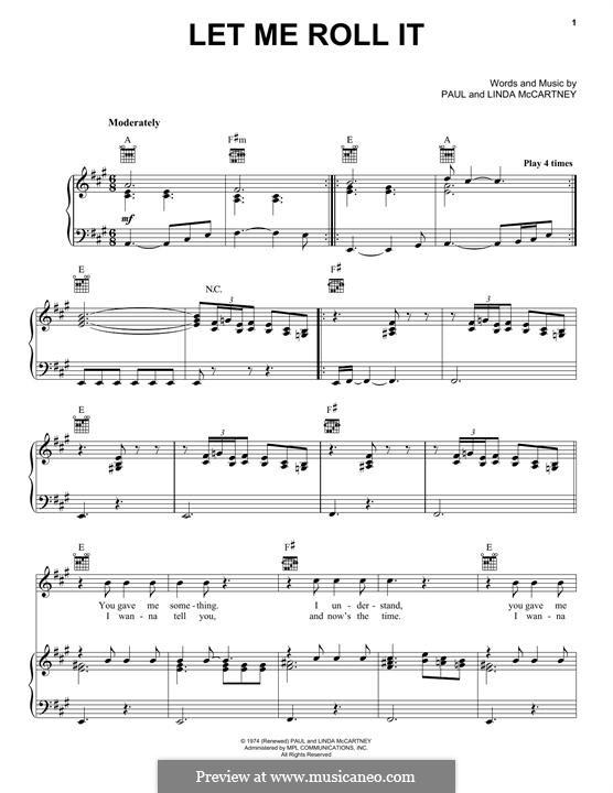 Let Me Roll It: Para vocais e piano (ou Guitarra) by Linda McCartney, Paul McCartney