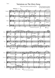 Variations on the Glory Song: para quartetos de cordas by Charles Hutchinson Gabriel