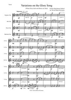 Variations on the Glory Song: para quarteto de saxofone by Charles Hutchinson Gabriel