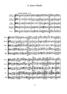 Suite No.1. Aase's Death, Op.46 No.2: Partitura completa by Edvard Grieg